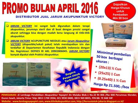 Foto: Promo Bulan April 2016  Distributor Jual Jarum Victory