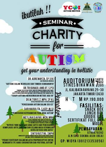 "Foto: Seminar Kesehatan Nasional  Charity For Autism ""Get Your Understanding In Holistic"""