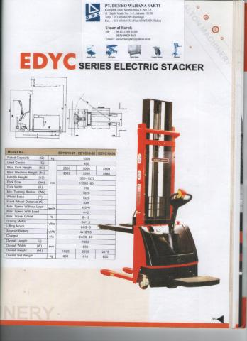 Foto: Harga Electric Stacker – Termurah – Mr Umar Dalton