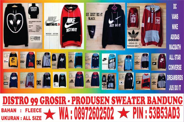 Foto: Distro Sweater Termurah